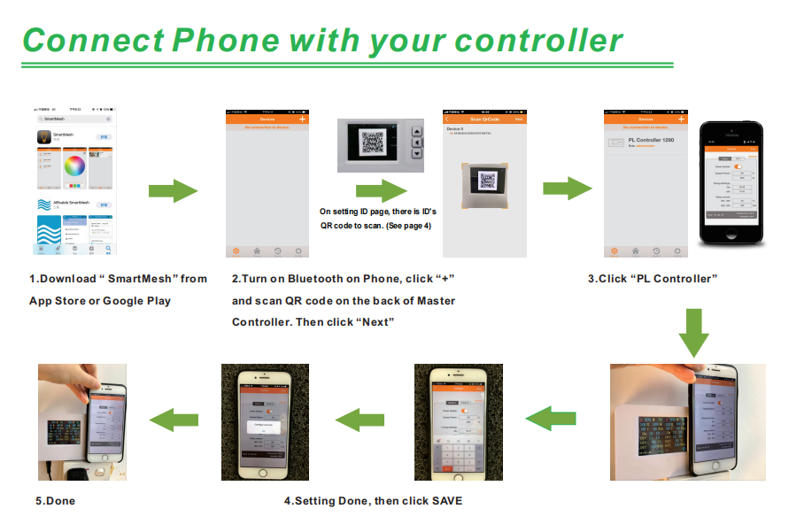 connect controller with the phone