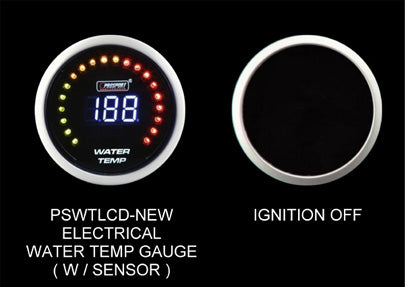 Prosport Water Temperature Gauge Digital Display-52mm