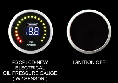 Prosport Oil Pressure Gauge Digital Display-52mm