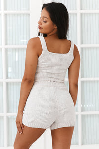 Milk Ultra Comfort Chenille Top and Shorts Set