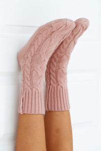 Pink Cosy Knitted Socks