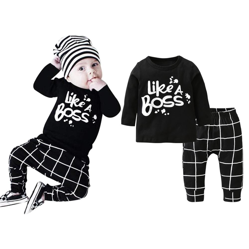 unisex Baby Like A Boss Outfit