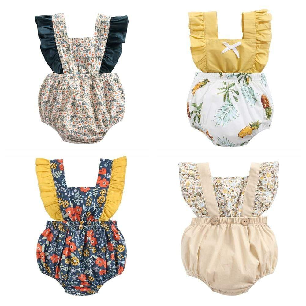 Girl's Clothing Flowers Rompers Clothes Girl