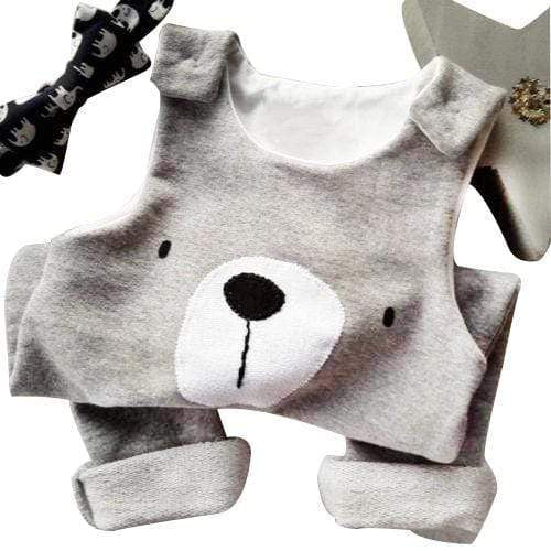 Boy's Clothing Cartoon Bear Sleeveless Romper