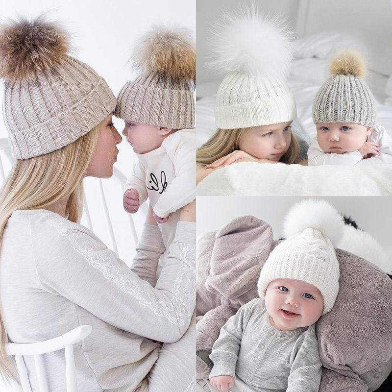 Accessories Mom & Baby Matching Beanies