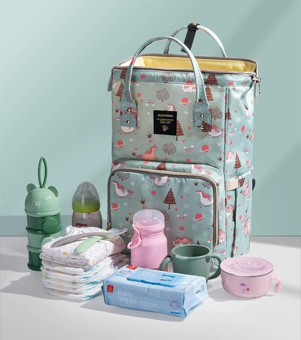 Diaper Bag Unicorn Print Diaper Bag Backpack