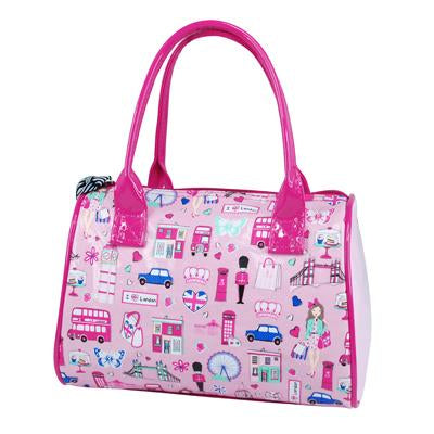 I Love London Barrel Bag - Pink Poppy