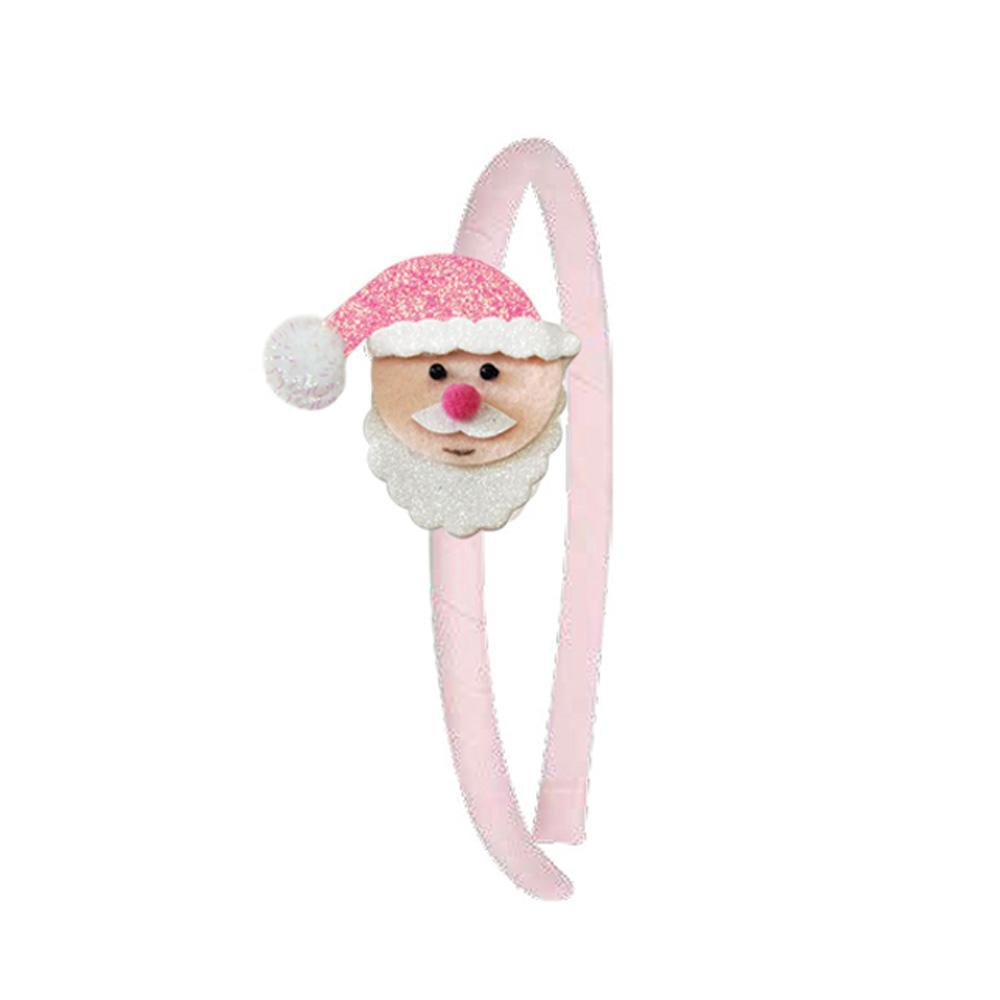 Christmas Party Headband - Pink Poppy
