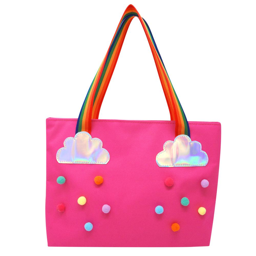 Rainbow magic tote bag-hot pink - Pink Poppy