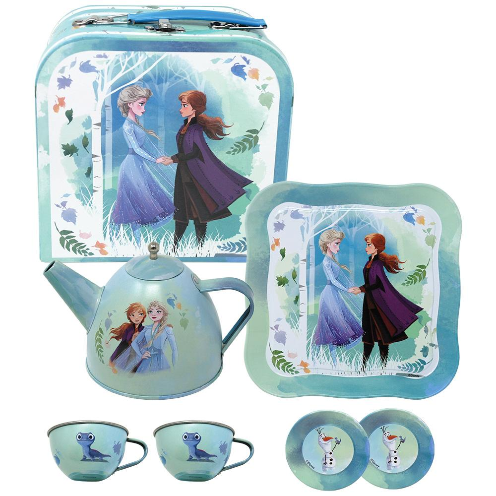 Frozen 2 Tea Set in carry case (7 piece) - Pink Poppy