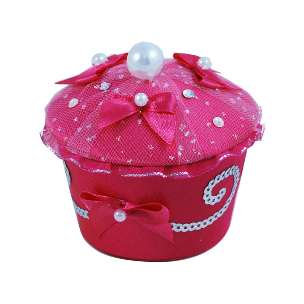 Princess Sparkle Cupcake Trinket Box - Pink Poppy