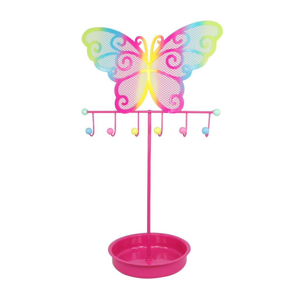 Colorful butterfly jewelry stand-hpink - Pink Poppy