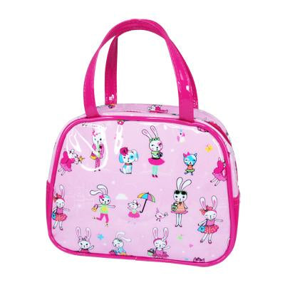 Cute little pets square handbag-palepin - Pink Poppy