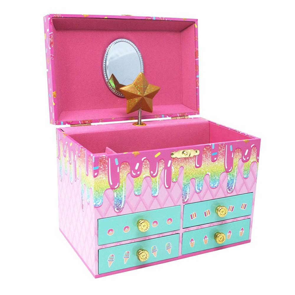 Sweet Treats Medium Music Box - Pink Poppy