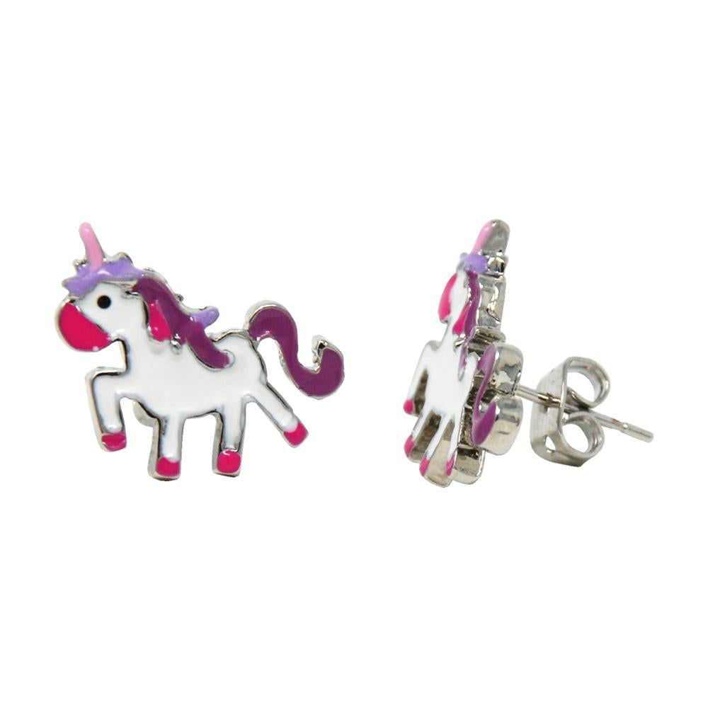 Rainbow fantasy pierced earring display - Pink Poppy