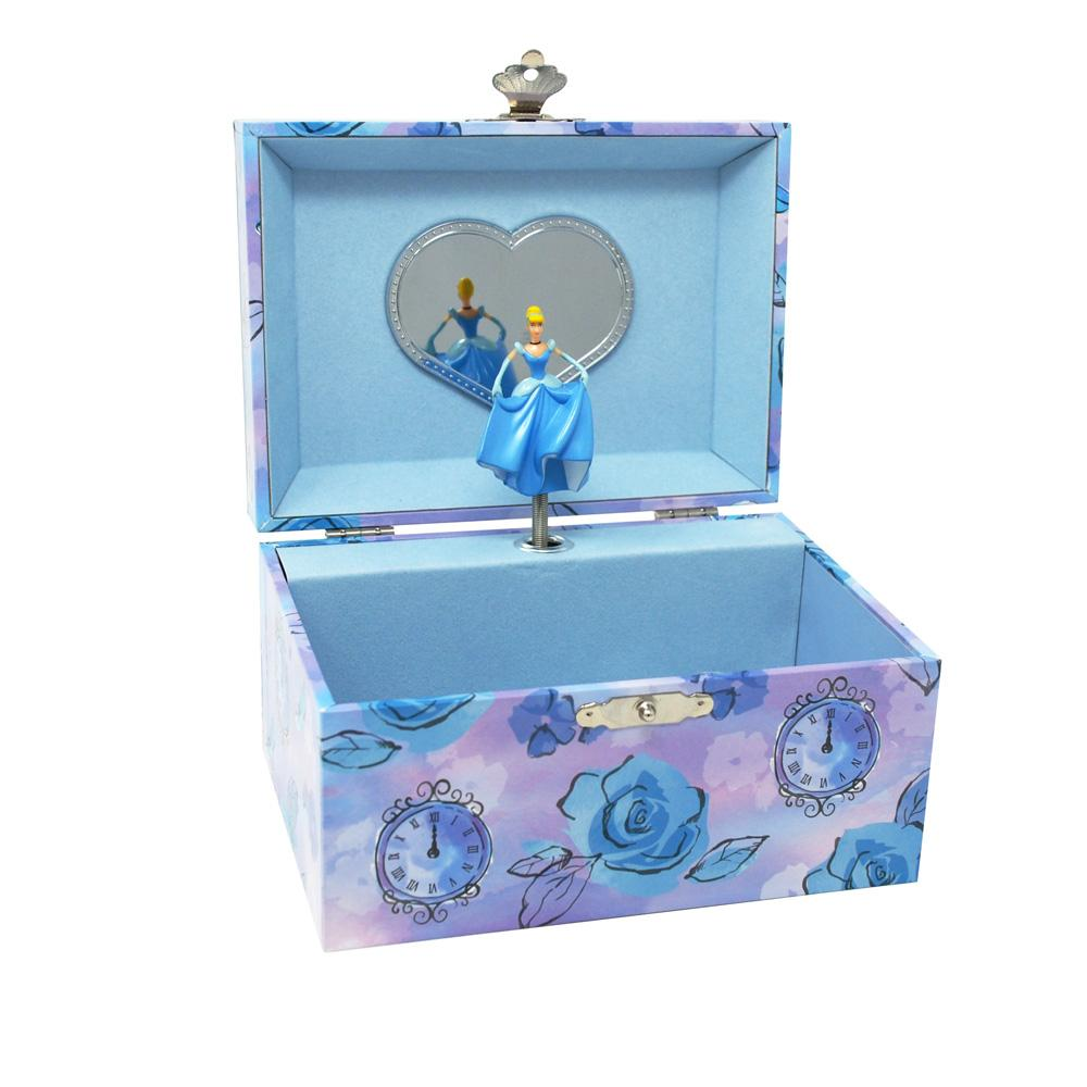 Cinderella Musical Jewellery Box - Pink Poppy