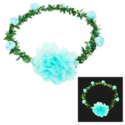 Light up flower garland-blue - Pink Poppy