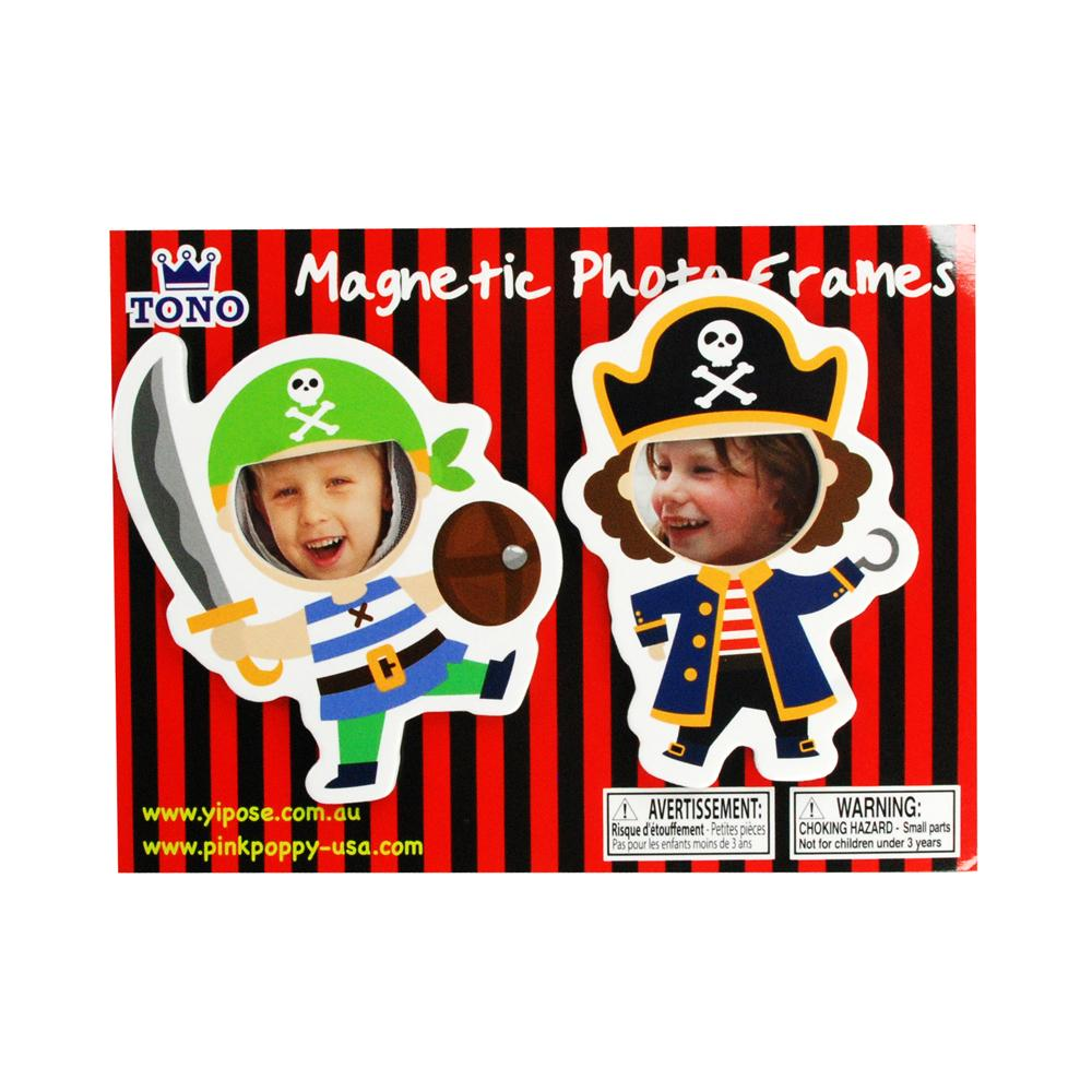 Pirate magnet photoframe - Pink Poppy