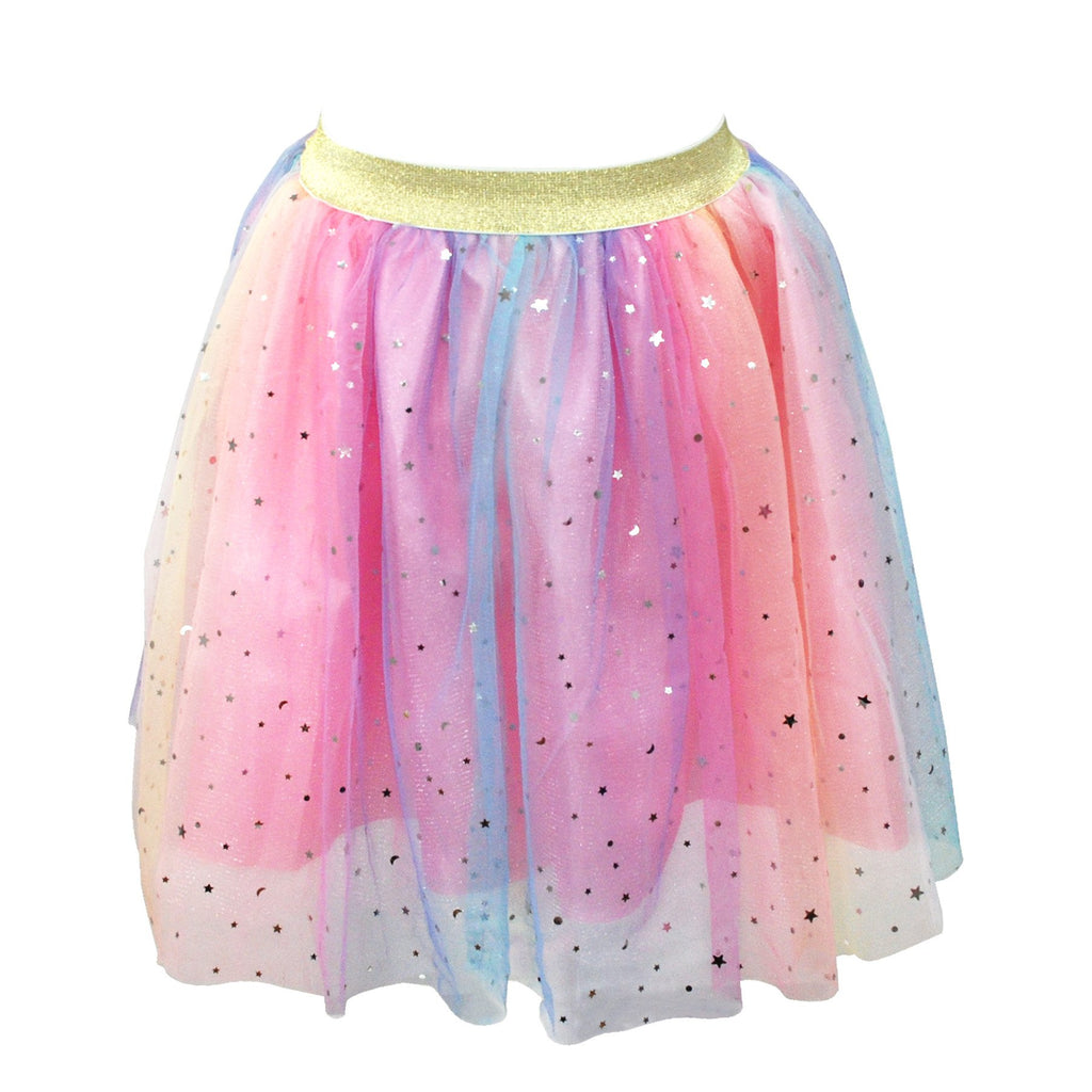 Pastel Rainbow Skirt Size 3/4-Multi - Pink Poppy