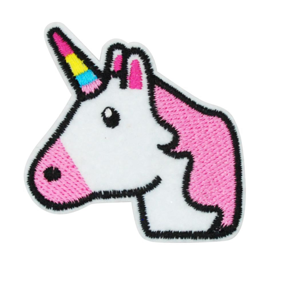 Rainbow & unicorn patch hairclips - Pink Poppy