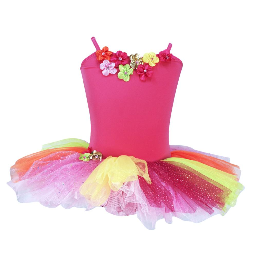 Daisy Tutu Dress - Pink Poppy