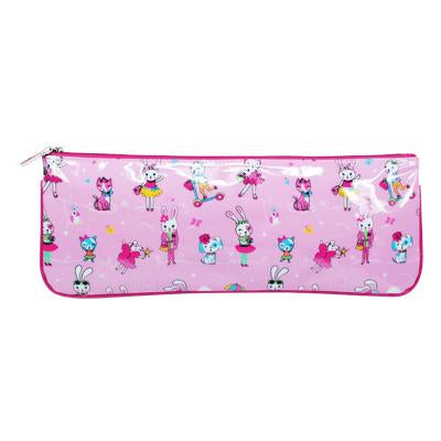 Cute little pets pencil case-pale pink - Pink Poppy