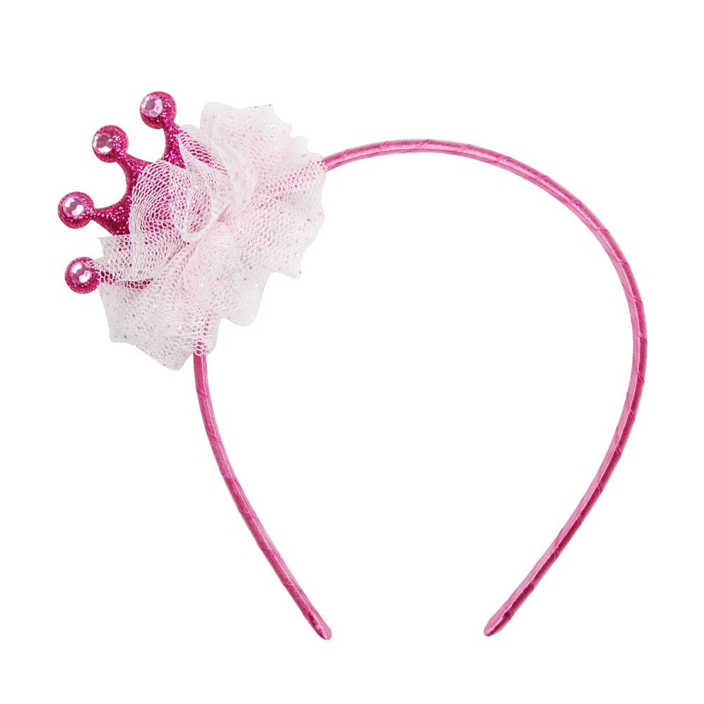 Sparkle Princess Crown Headband - Pink Poppy