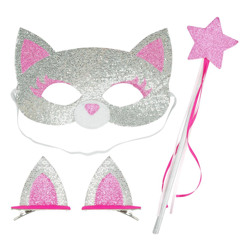Dress up play set-silver cat - Pink Poppy