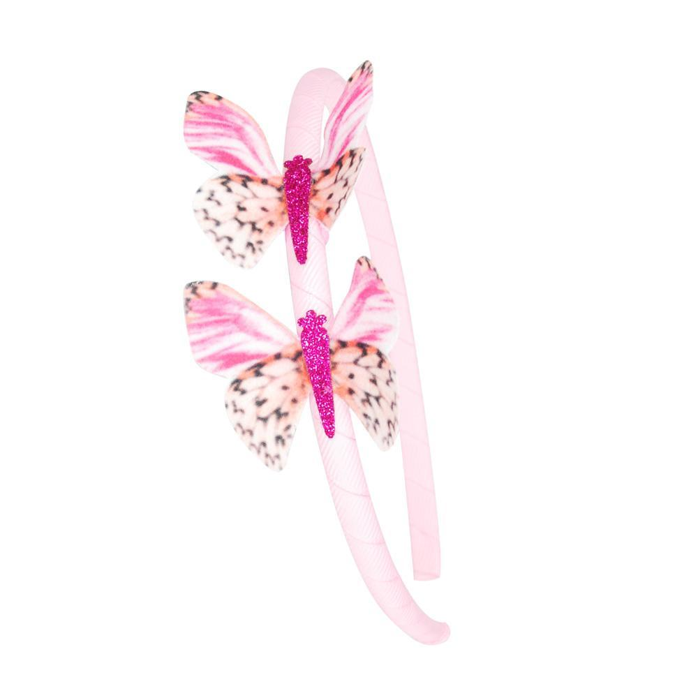 Sliver Pink Poppy Butterfly Long Wallet