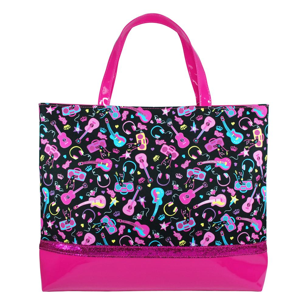 Rock princess tote bag-black - Pink Poppy