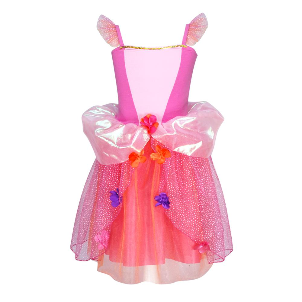 Flower fairy dress size 3/4-hot pink - Pink Poppy