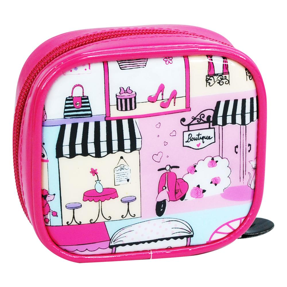Holiday In Paris Mini Cosmetic Bag - Pink Poppy