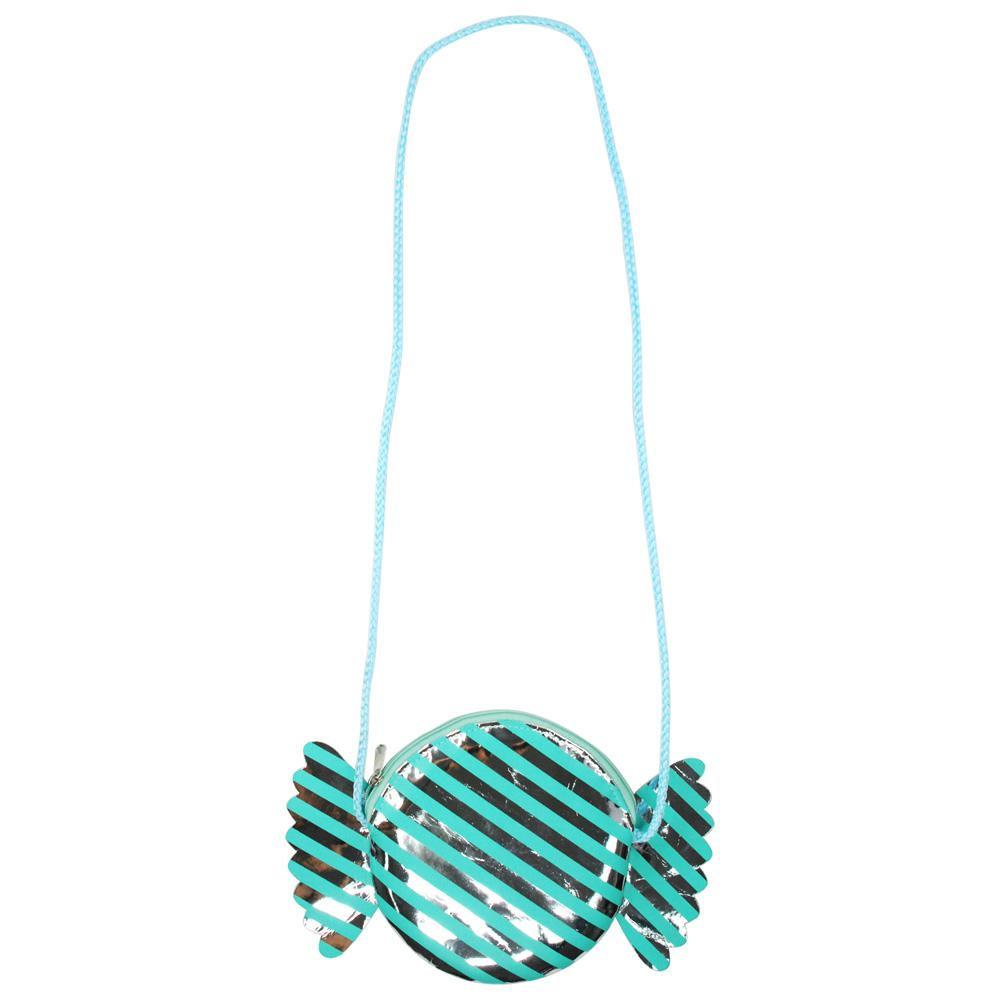 Land Of Candy Round Shoulder Bag-Mint - Pink Poppy