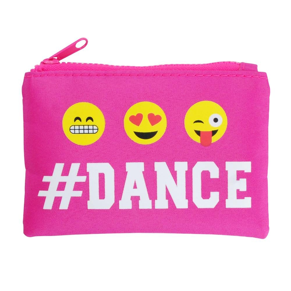 Pixel Dance Coin Purse-Hot Pink - Pink Poppy