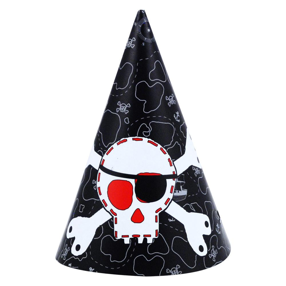 Pirate Hat-8Pc/Pack - Pink Poppy