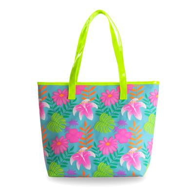 Tropical tango beach bag-blue - Pink Poppy