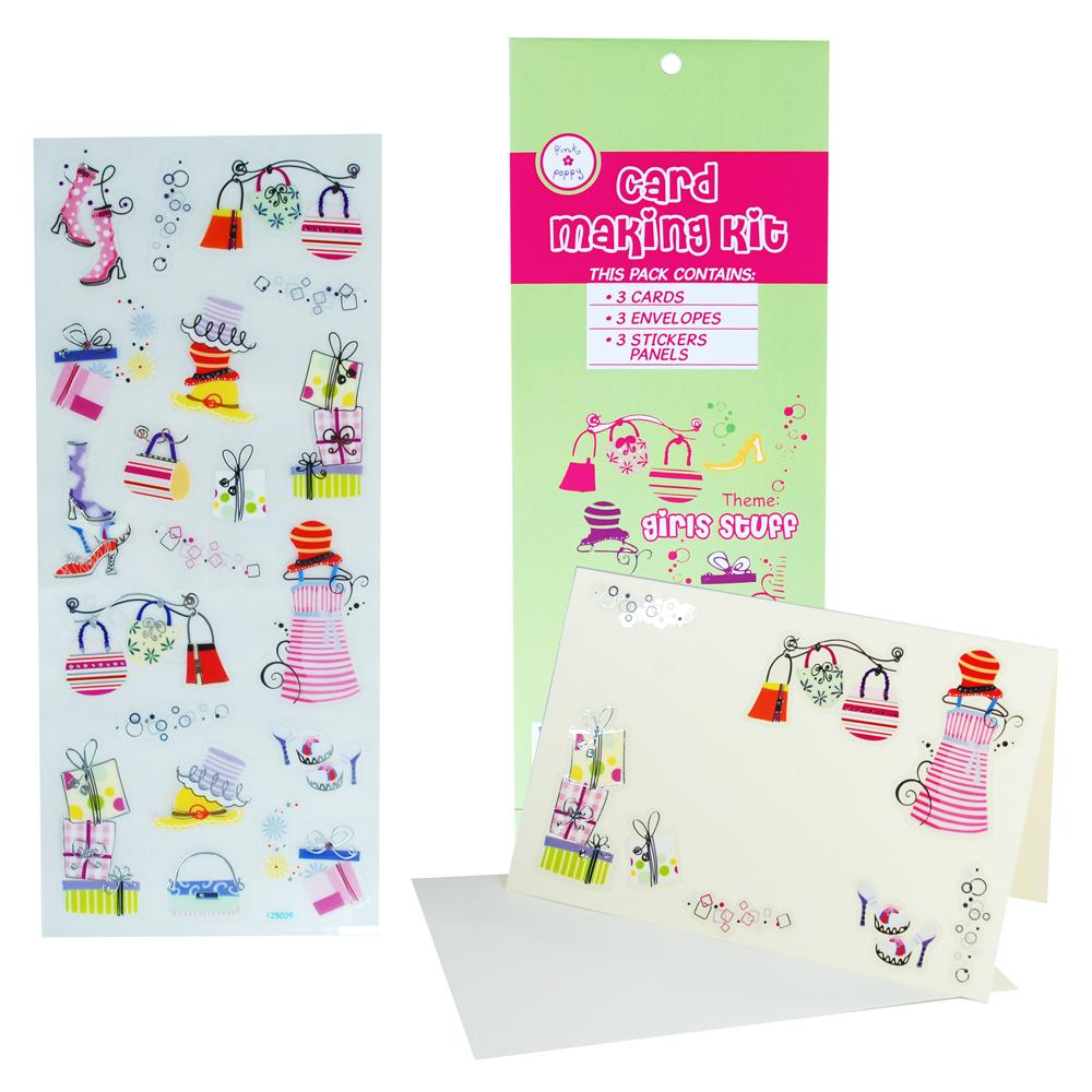 Card Making Kit - Girls Accessories - Pink Poppy