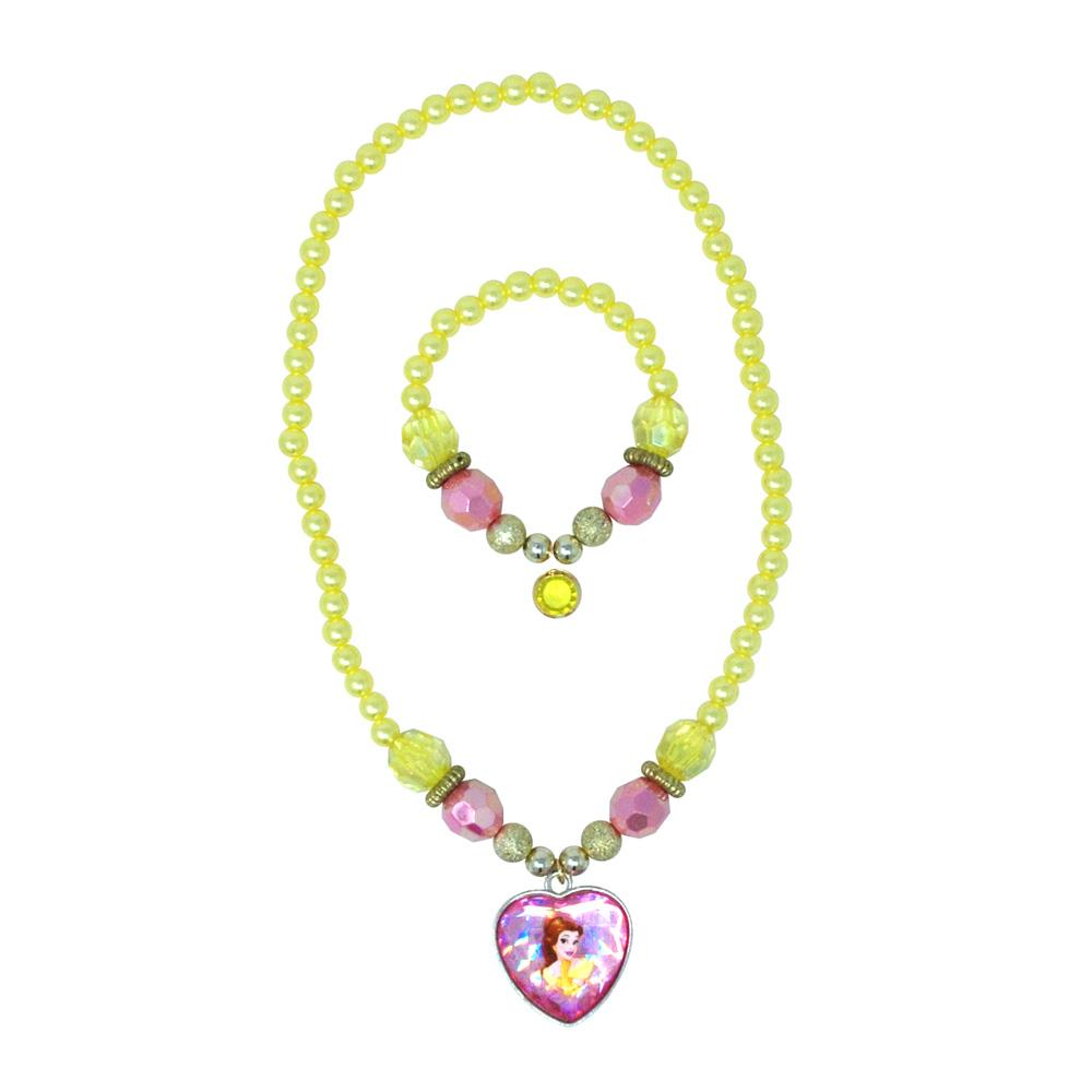 Disney Princess Belle Necklace&Bracelet - Pink Poppy