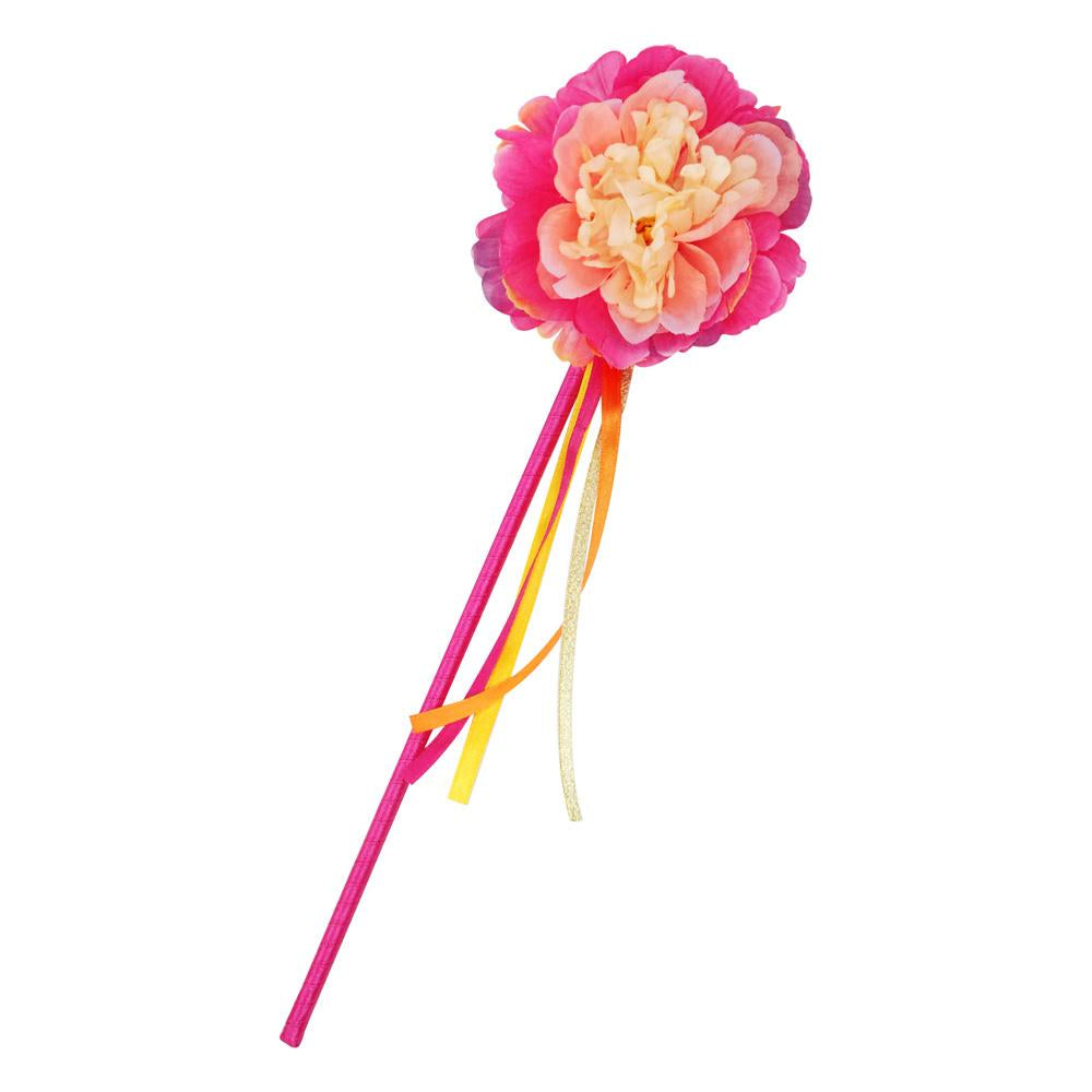 Peony Flower Fairy Wand-Hot Pink - Pink Poppy