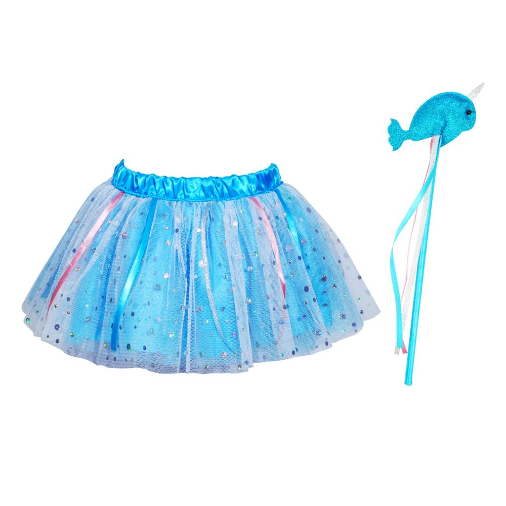 Wish Upon A Star Tutu & Wand Set-Blue - Pink Poppy