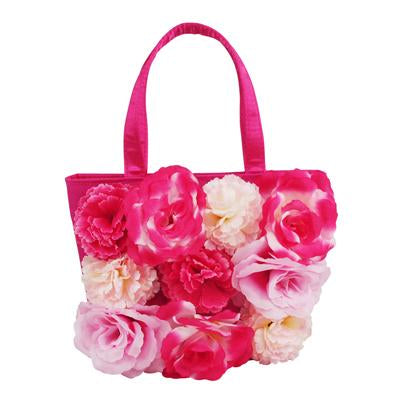 Secret Garden Blossom Handbag-Hot Pink - Pink Poppy