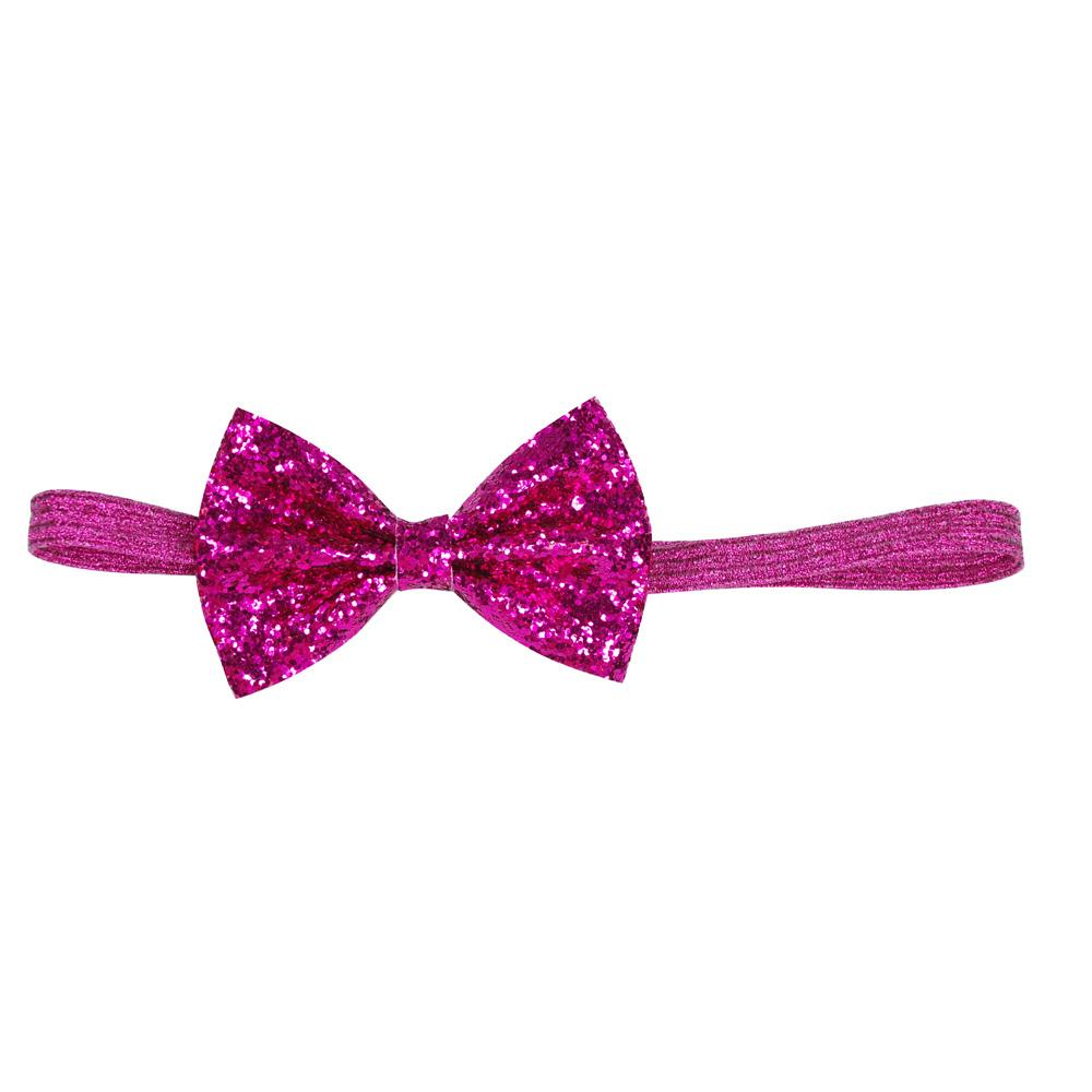 Sparkle Collection Bow Headband - Pink Poppy
