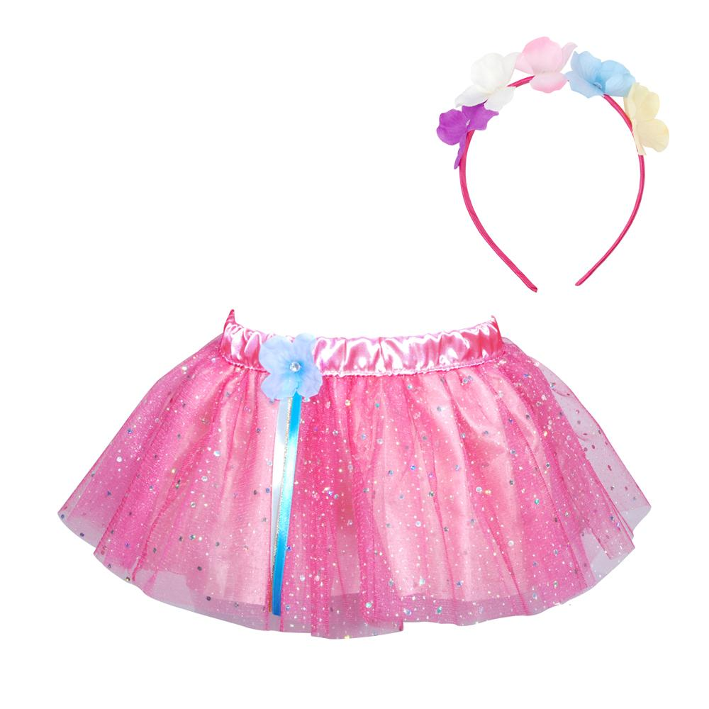 Fairy Fantasy Tutu & Headband Set - Pink Poppy