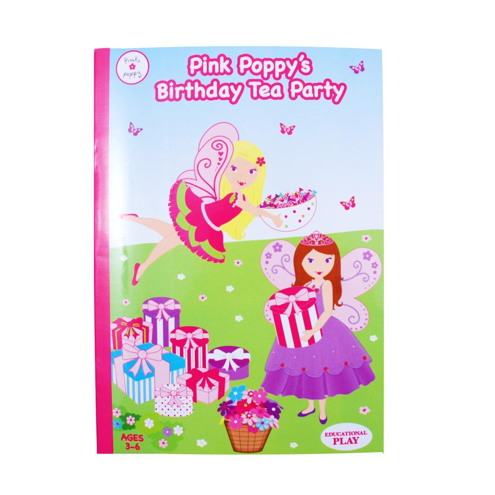 P/P Tea Party Birthday Story Book - Pink Poppy