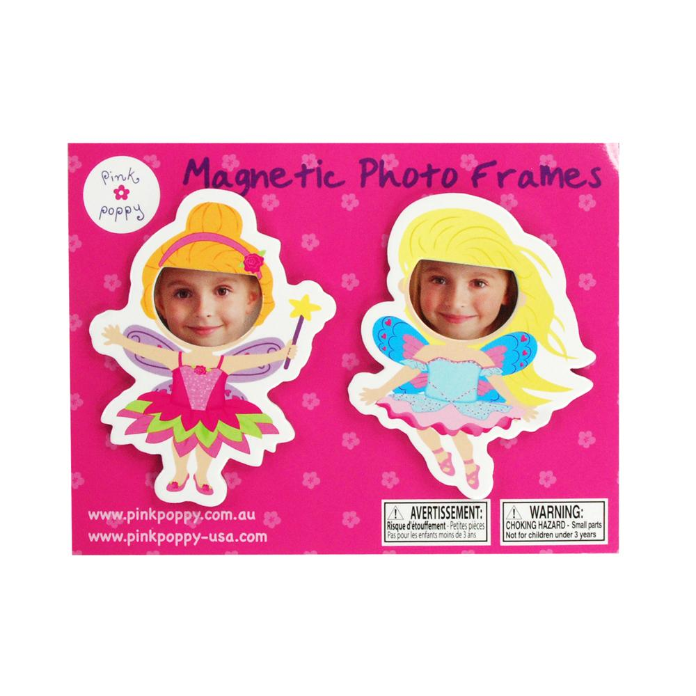 Fairy magnet photoframe - Pink Poppy