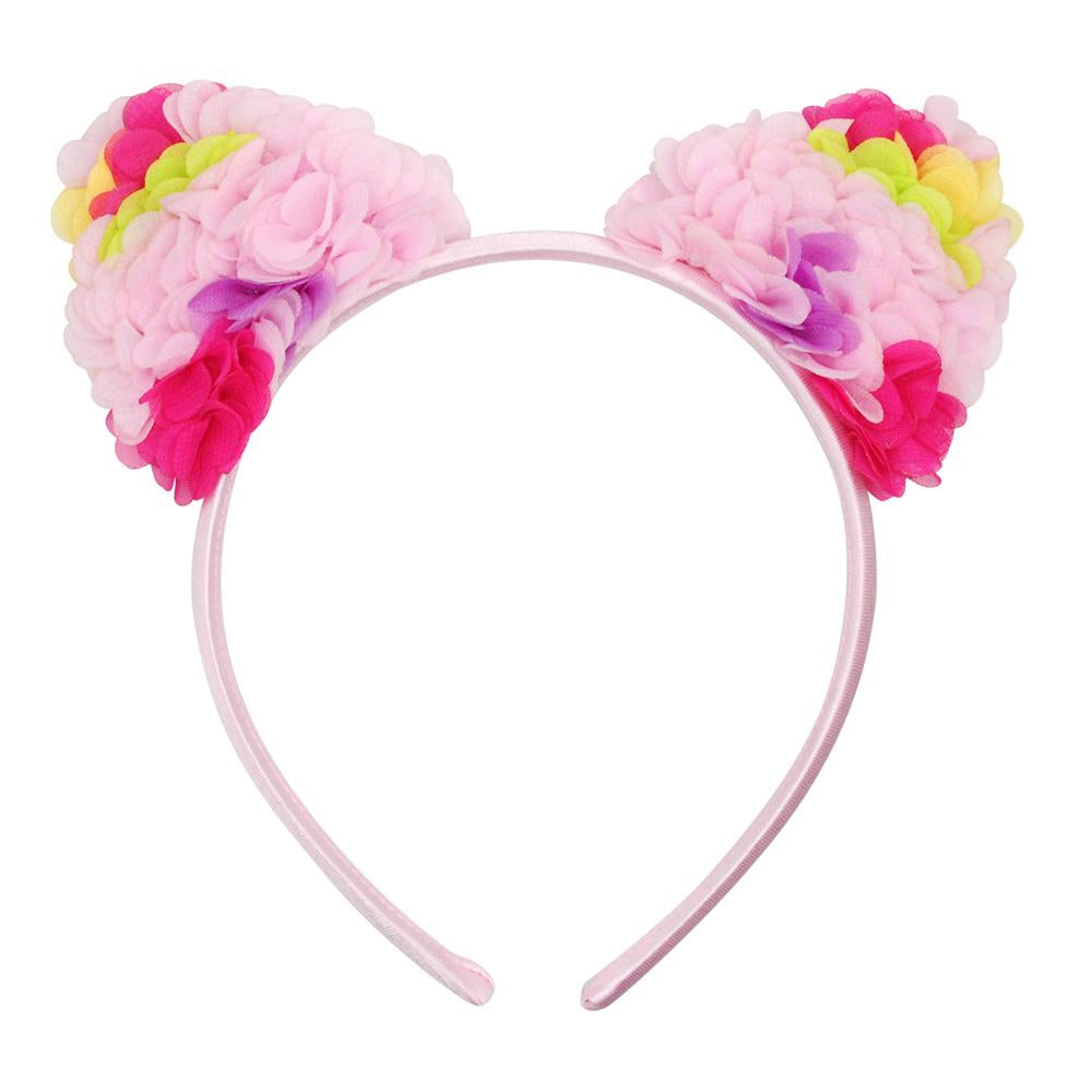 Floral Blossom Ear Headband - Pink Poppy