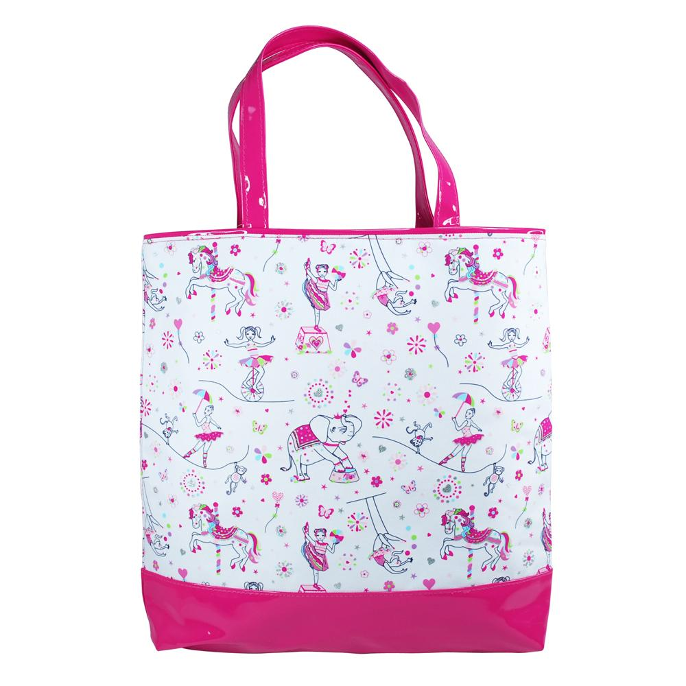 Carnival carry bag-white - Pink Poppy