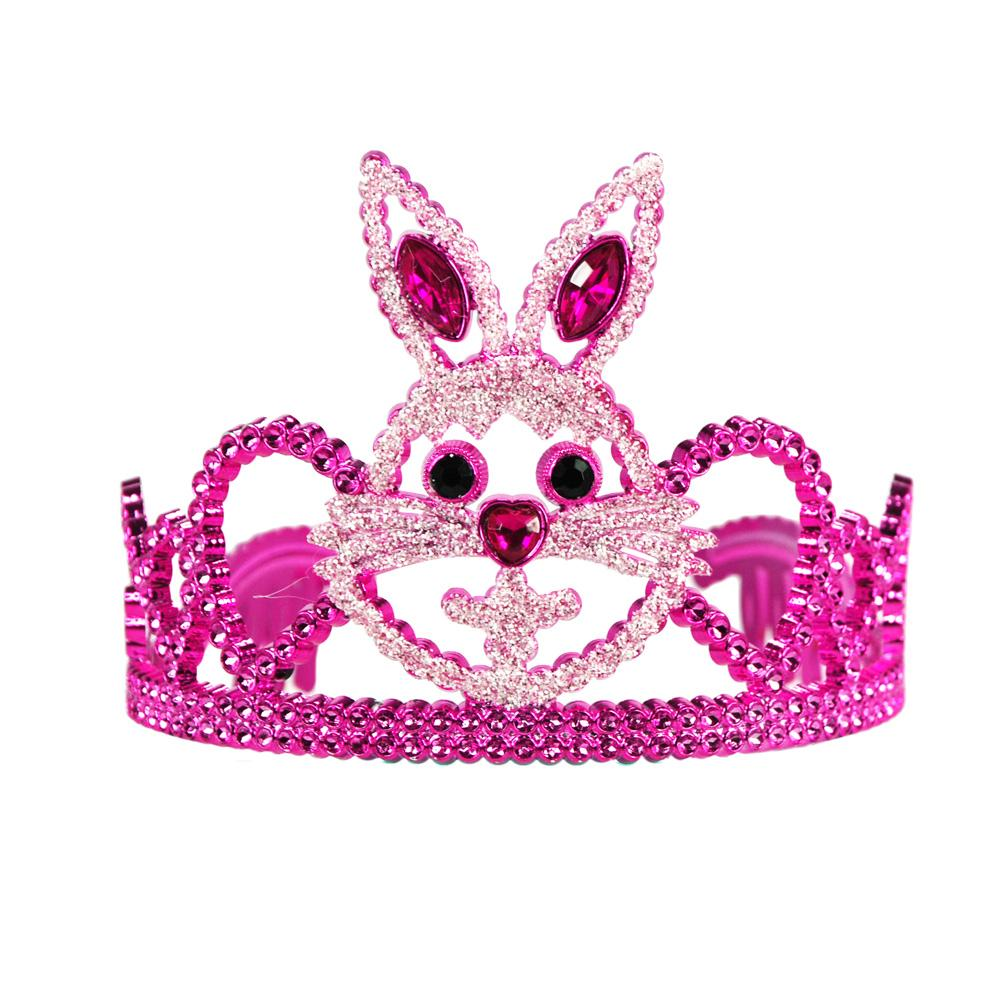Hunny Bunny crown - Pink Poppy
