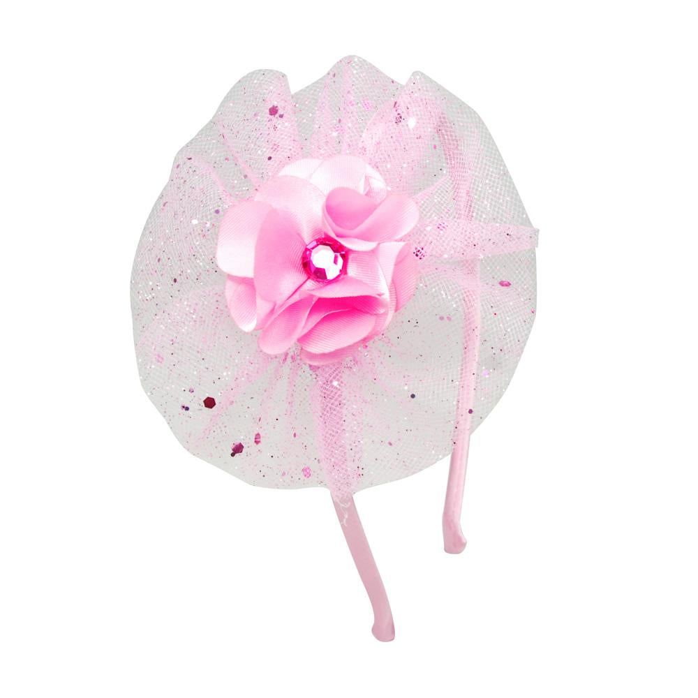 Flower Tutu Headband - Pink Poppy