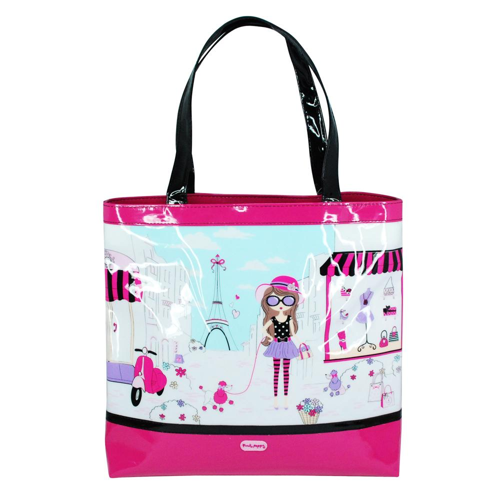 Holiday in Paris tote bag - Pink Poppy